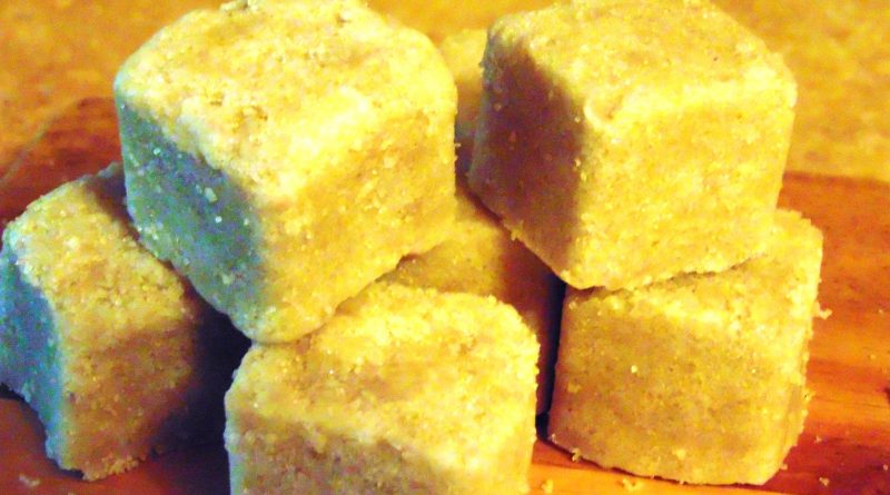 sugar cube soap scrub