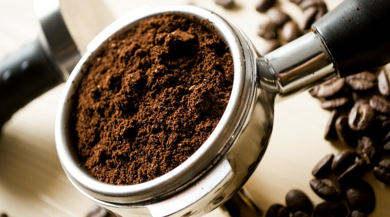 fresh coffee grounds